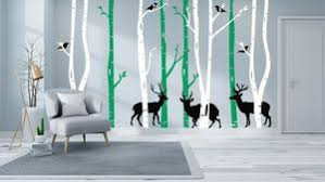 Birch Tree Wall Decal Forest Wall Mural White Vinyl Large Tree Wal The Personalized Gift Co