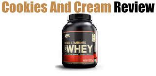 optimum nutrition cookies and cream