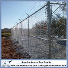 China Chain Link Fabric And Barbed Wire Forms Security Fencing China Security Fence Galvanized Chain Link Fence