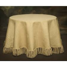 120 natural tablecloth with 5 in fringe