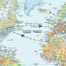 Wall Pops 24 In X 36 In Dry Erase World Map Wall Decal Wpe99074 The Home Depot