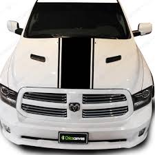 Truck Hood Vinyl Decal Universal Line Racing Lines Straight Stripes Sticker Chicocanvas