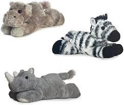 """Aurora Howard Hippo Zany Zebra Rhino Mini Flopsie 8"""" Bundle, Animals -  Amazon Canada"""