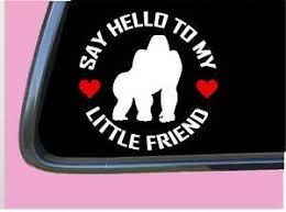 Gorilla My Little Friend Tp 1088 Vinyl 6 Decal Sticker Harambe Ebay
