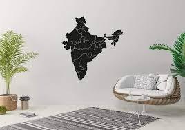 Amazon Com Wall Sticker India Map Outline Country Travel World Vinyl Mural Decal Art Decor Eh3177 Handmade