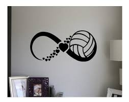 Volleyball Wall Decal Quote Infinity Sign Vinyl Decal Sticker Etsy