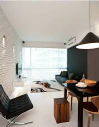 black accent wall living room