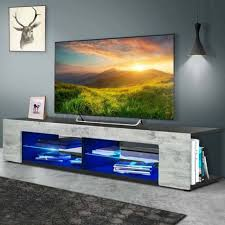 Tv Stand With Video Game Storage Entertainment Center Kids Room Basement Black For Sale Online Ebay