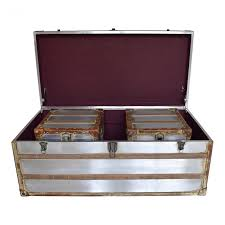 piece steamer trunk coffee table