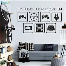 Choose Your Weapon Wall Decal Gamer Room Home Decor Video Computer Geek Gifts Removable Home Decor Yt3262 Wish