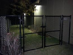 Double Gate Chainlink Black Vinyl Coated 6 High Chain Link Fence Chain Link Fence Gate Chain Link Fence Panels