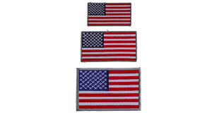 small us flag patches gray borders 3