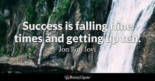jon bon jovi success is falling nine times and getting
