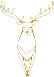 Nordic Gold Deer Wall Decal Xl Size Ust Kids