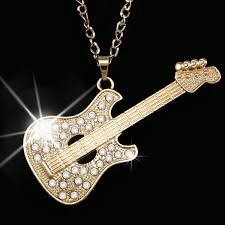 pendant guitar necklace long necklace