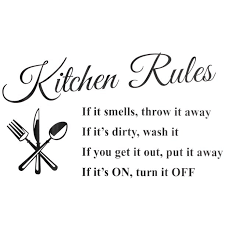 1pc Removable Kitchen Rules Words Wall Stickers Decal Home Decor Vinyl Art Mural 23 62 X 12 99 Walmart Com Walmart Com