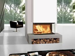 wood burning 3 sided fireplace windo3