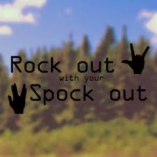 Car Decal Bumper Sticker Rock Out With Your Spock Out Star Trek Car Sticker Funny Car Decal Car Window Stic Car Window Stickers Funny Car Decals Car Humor