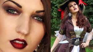 y pirate halloween look makeup hair