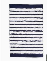 beach stripe indigo blue white 21 in x