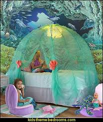 Create An Under The Sea Themed Bedroom Filled With Fishies And Mermaids Little Mermaid In 2020 Mermaid Decor Bedroom Little Mermaid Bedroom Sea Theme Bedrooms