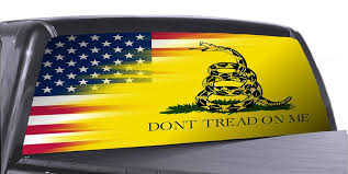 Don T Tread On Me 3 Universal Truck Rear Window 50 50 Perforated Vinyl Roe Graphics And Apparel