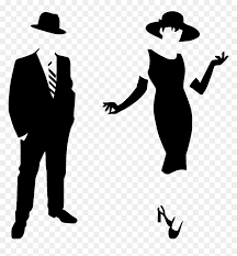 Sticker Silhouette Homme Et Femme Wall Decals Ladies And Gentlemen Png Transparent Png Vhv