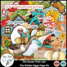The Goose That Laid The Golden Eggs By Over The Fence Designs Aesop S Fables Have Been A Mainstay Of Childhood Storytelling F With Images Golden Egg Fence Design Art Kit