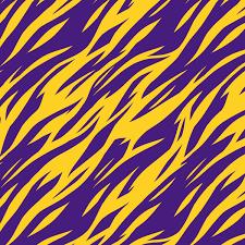 Purple And Gold Tiger Stripes Lsu Louisiana Printed Craft Vinyl Vinyl Printcess