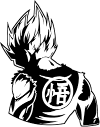 Amazon Com Dragon Ball Z Dbz Goku Super Saiyan Anime Decal Sticker For Car Truck Laptop 6 2 X 5 0 Black Computers Accessories