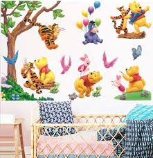 Winnie The Pooh Tree Tiger Pig Wall Decal Kids Nursery Decor Baby Cot Sticker Ebay