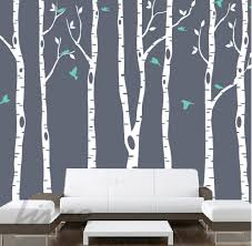 Birch Tree Vinyl Wall Decal White With Birds Realistic Design For Sale Target Fox Vamosrayos