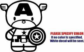 Vinyl Decal Sticker Captain America Chibi Car Truck Bumper Window Jdm Fun 6 Ebay