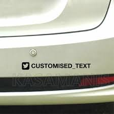 Personalized Custom Username Facebook Youtube Snapchat Instagram Pinterest Decals Car Window Moto Bumper Vinyl Sticker Wall Stickers Aliexpress