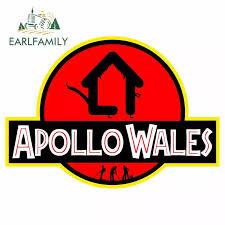Earlfamily 13cm X 13cm For Jurassic Park Apollo Wales Fine Suv Car Stickers Waterproof Scratch Proof Custom Printing Jdm Decal Car Stickers Aliexpress