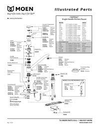 al 5476 moen 7400 faucet diagram