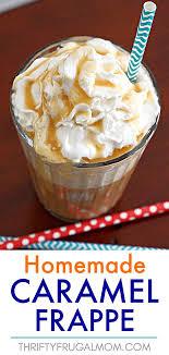 easy homemade caramel frappe