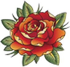 Amazon Com Tattoo Style Red Rose Flower Vinyl Decal Sticker 4 Wide Arts Crafts Sewing