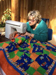 Meet Vicki Young. She and a team of 45 quilters have been busy the ...