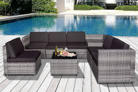 8pc rattan sofa furniture set garden