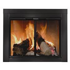 ardmore black fireplace door