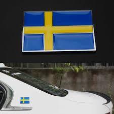 1 Pc Sweden Swedish Flag Auto Car Body Sticker Wish