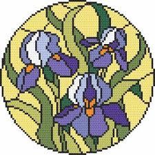 cross stitch kit stained glass