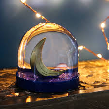 snow globe crescent moon by bonnie and