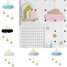 1pc Nordic Style Wooden Cloud Glitter Water Drop Hanging Decoration Kids Room Decor Buy At The Price Of 3 20 In Aliexpress Com Imall Com