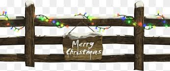 Brown Wooden Fence Santa Claus Christmas Decoration Fence Christmas Lights Christmas Fence With Lights Furniture New Year Merry Christmas Png Pngwing