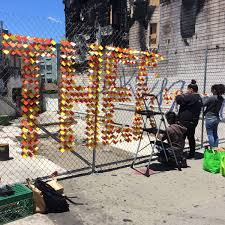 New Chain Link Fence Art Appears Along Mission Street Curbed Sf