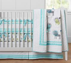 blue and yellow harper lion nursery bedding
