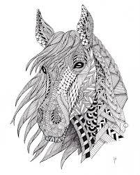Doodle Paard Met Afbeeldingen Zentangle Kunst Kleurplaten