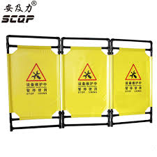A5 Folding Cloth Safety Barriers Lifts Elevator Maintenance For Sale Custom Black Plastic Construction Warning Barrier Fence Maintenance Aliexpress